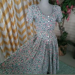 Vintage Life Styles of Dallas cotton floral dress